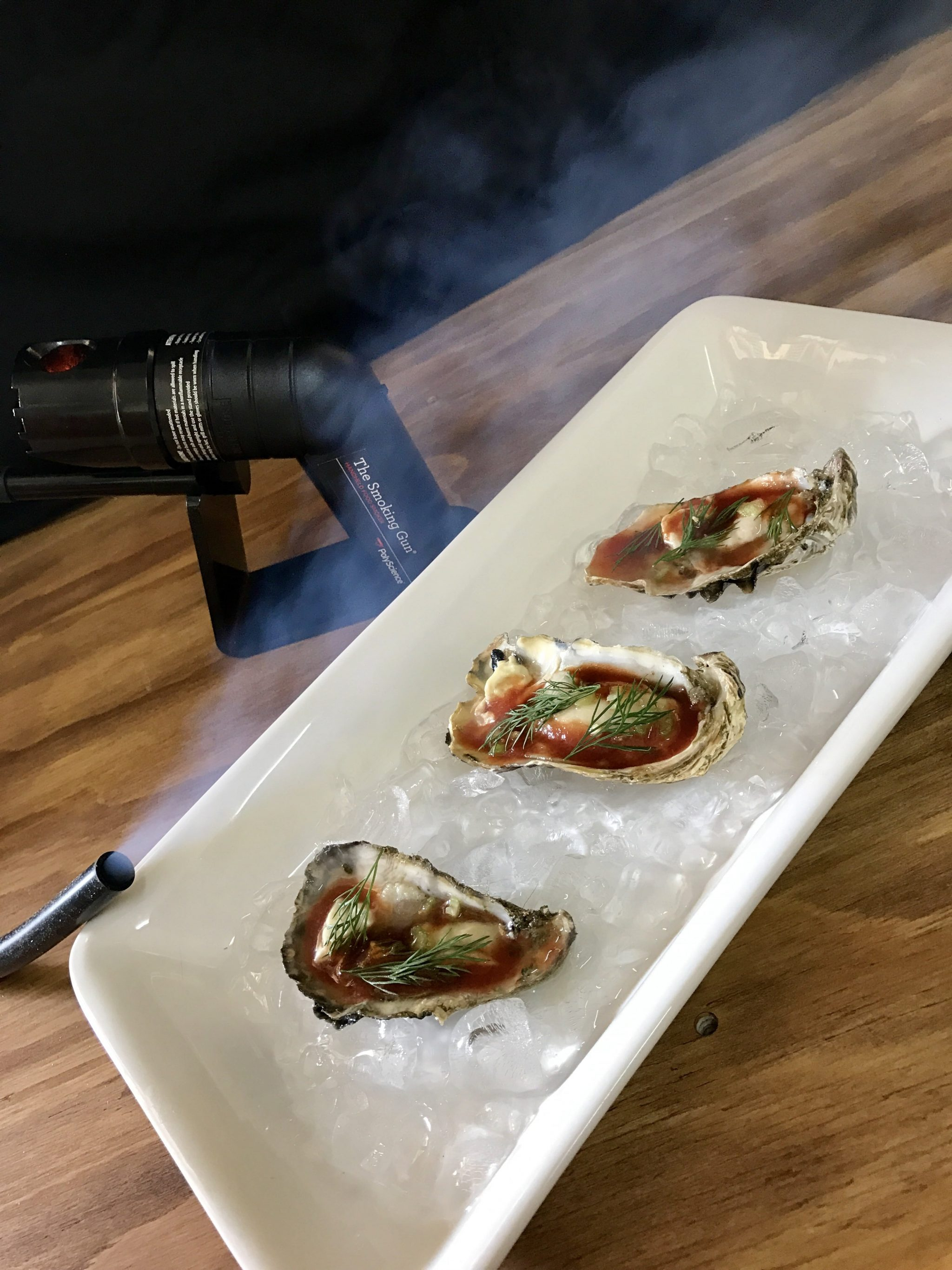 Smoked BLOODY MARY OYSTERS